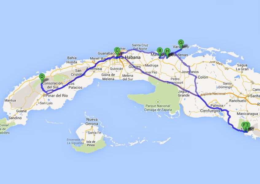 Kuba, Backpacker-Tour