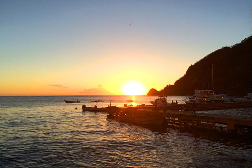 Soufriere Bay auf der Karibik-Insel St. Lucia