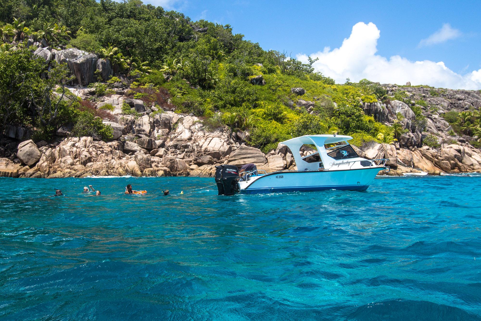 Schnorchelausflug auf La Digue mit Simplicity Charter nach Coco Island, Félicité und Sister.