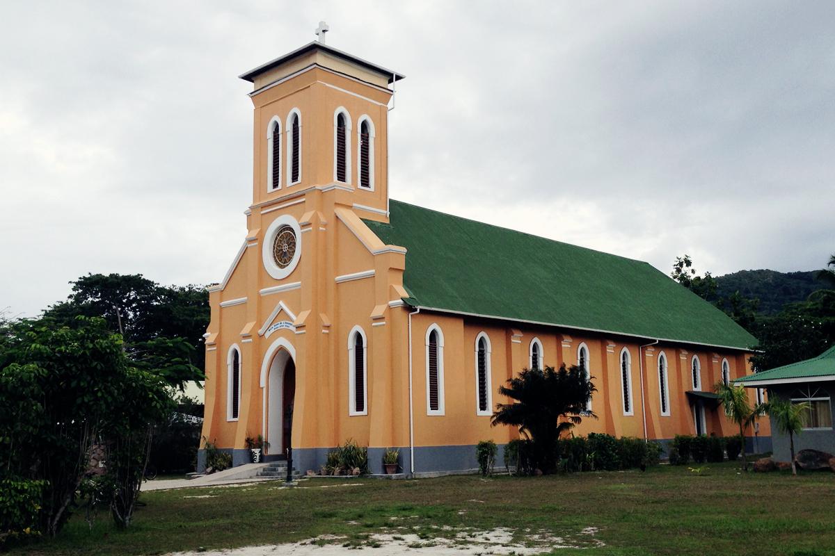 Kirche La Digue Seychellen