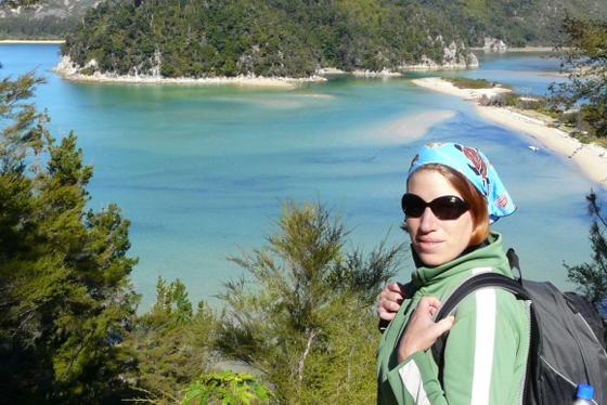 Neuseeland - Reiseblogger Anja Beckmann beim Wandern_