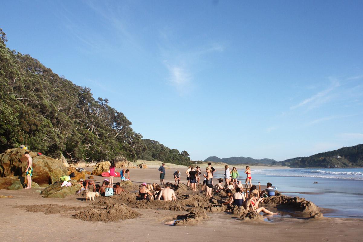 Hot Water Beach, Coromandel, Neuseeland