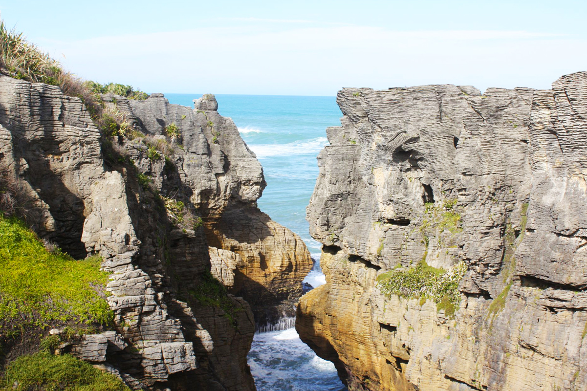 Neuseeland Südinsel, Pancake Rocks, Westküse