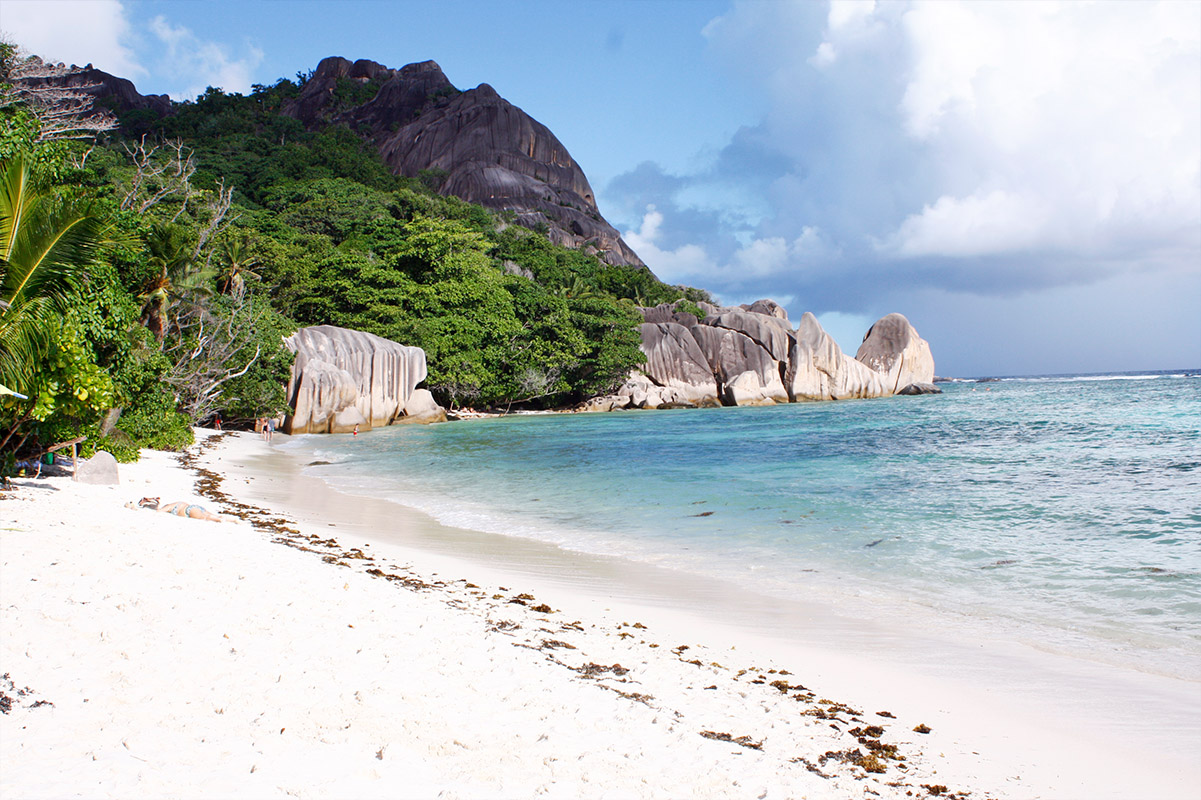 Anse Source D'Argent, La Digue, Seychellen, Wolkenweit