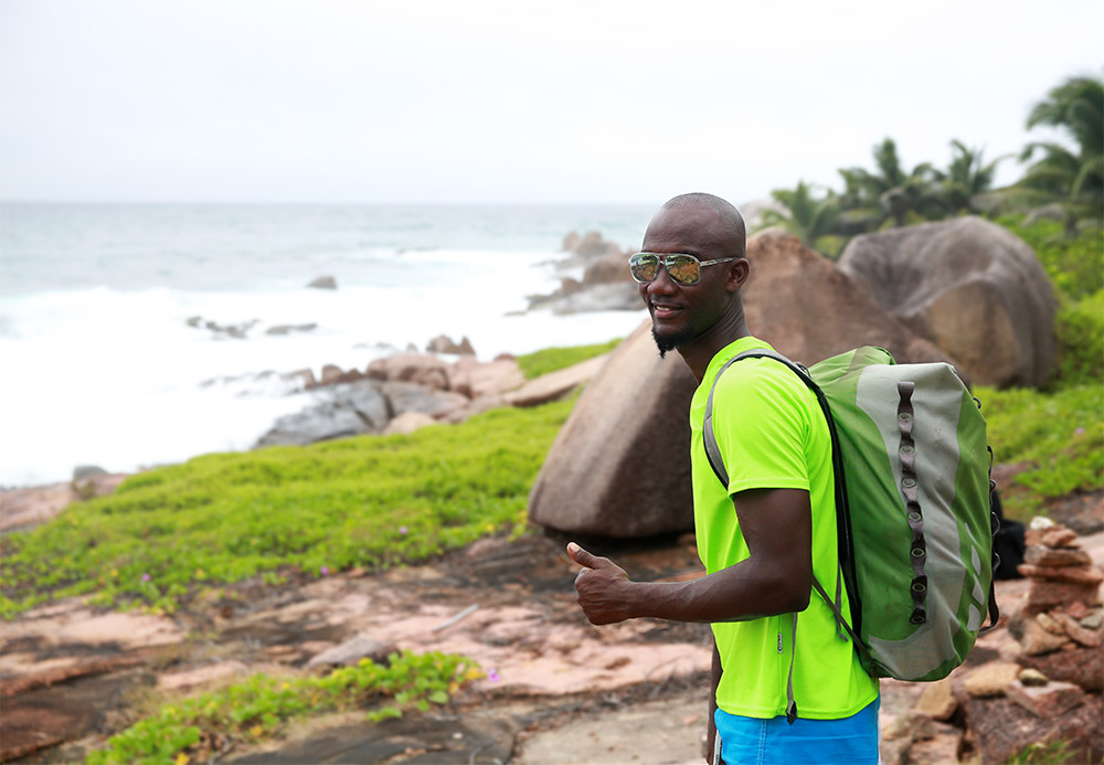 Sunny Trail Guide, Robert Agnes, La Digue, Seychelles,