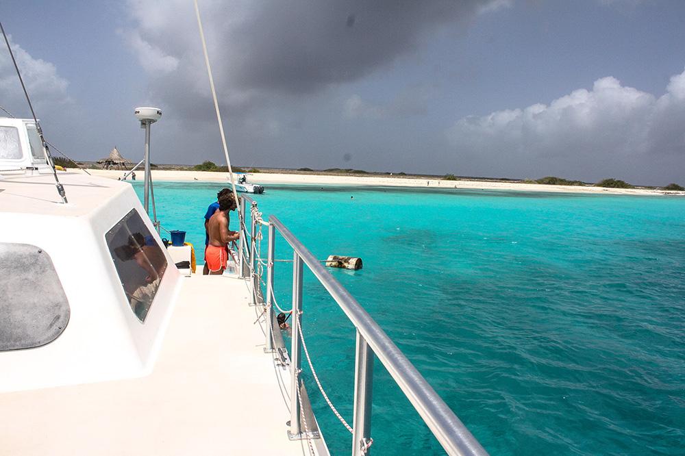 Ausflug mit dem Katamaran nach Klein Curacao