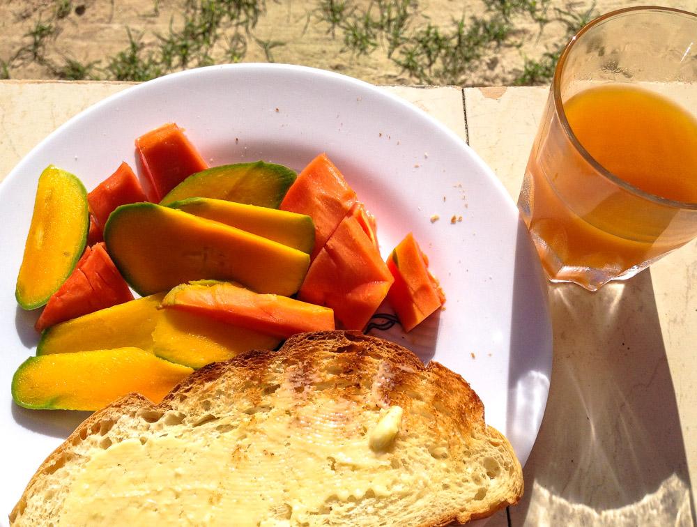 Frühstück auf den Seychellen