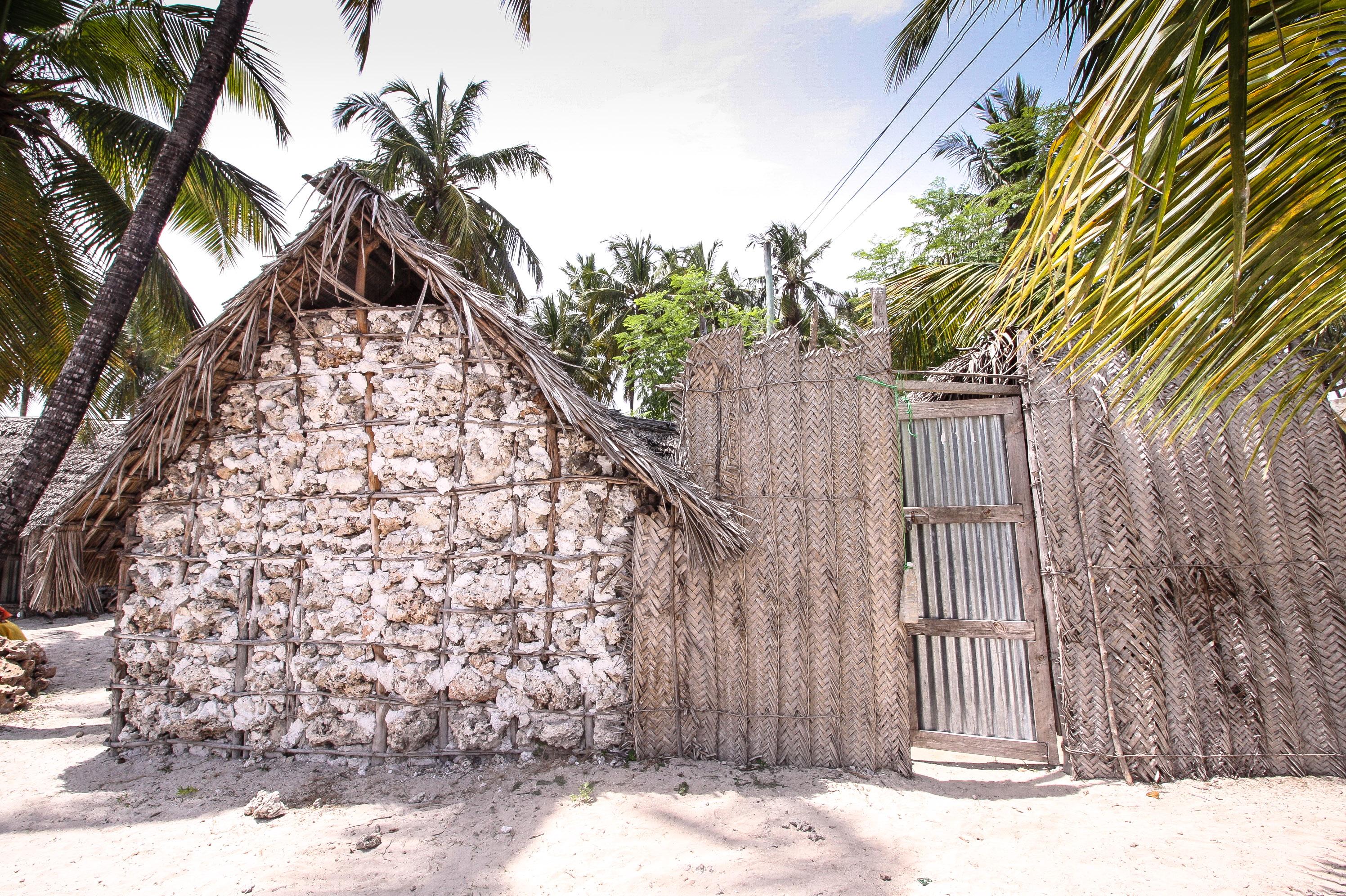 So wurden die Häuser in Jambiani vor einiger Zeit gebaut