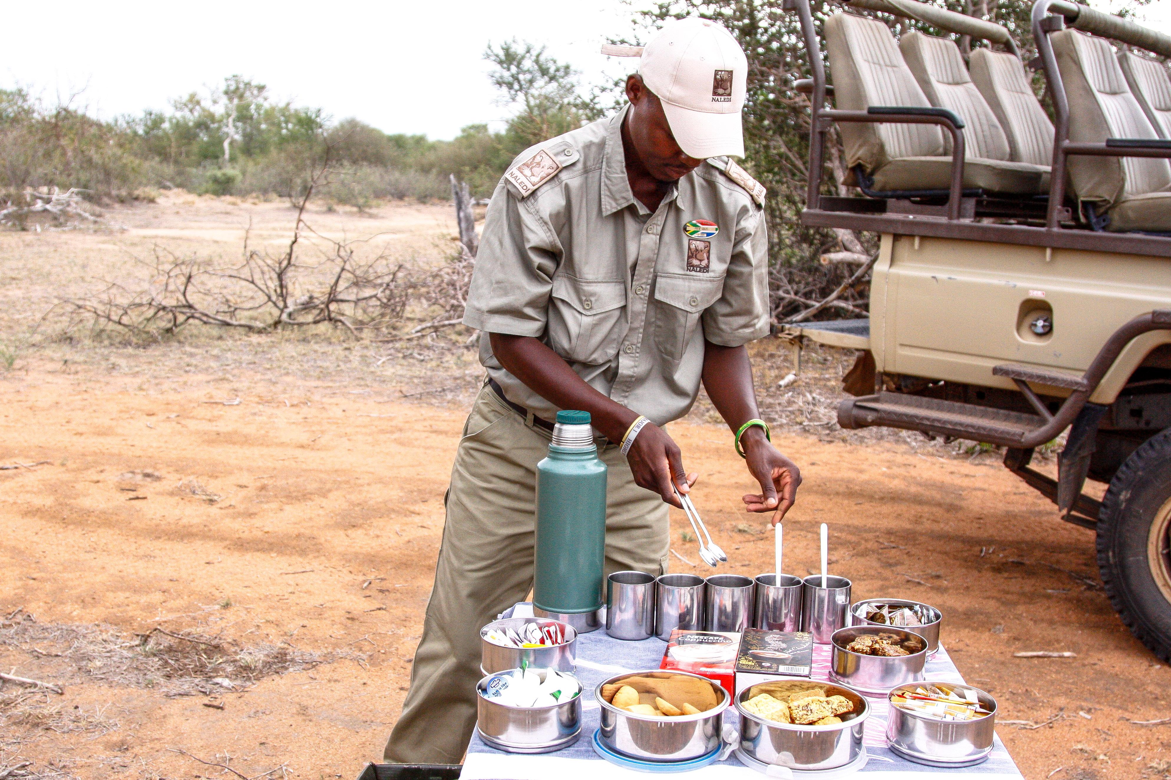 Kaffeepause im Busch, Balule Game Reserve, Naledi Enkoveni, Prem