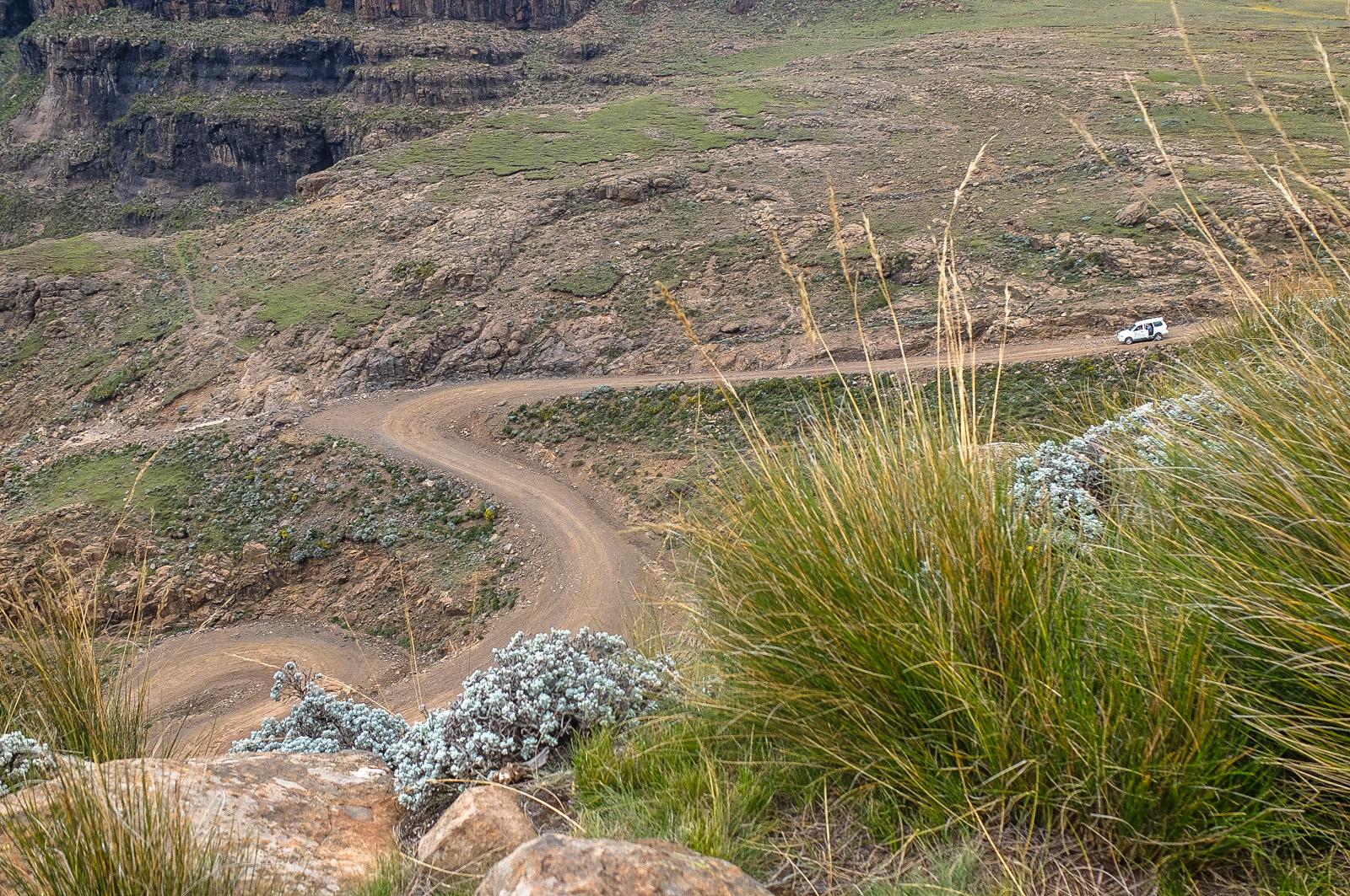 Sani Pass, Drakensberge, Lesotho, Südafrika,