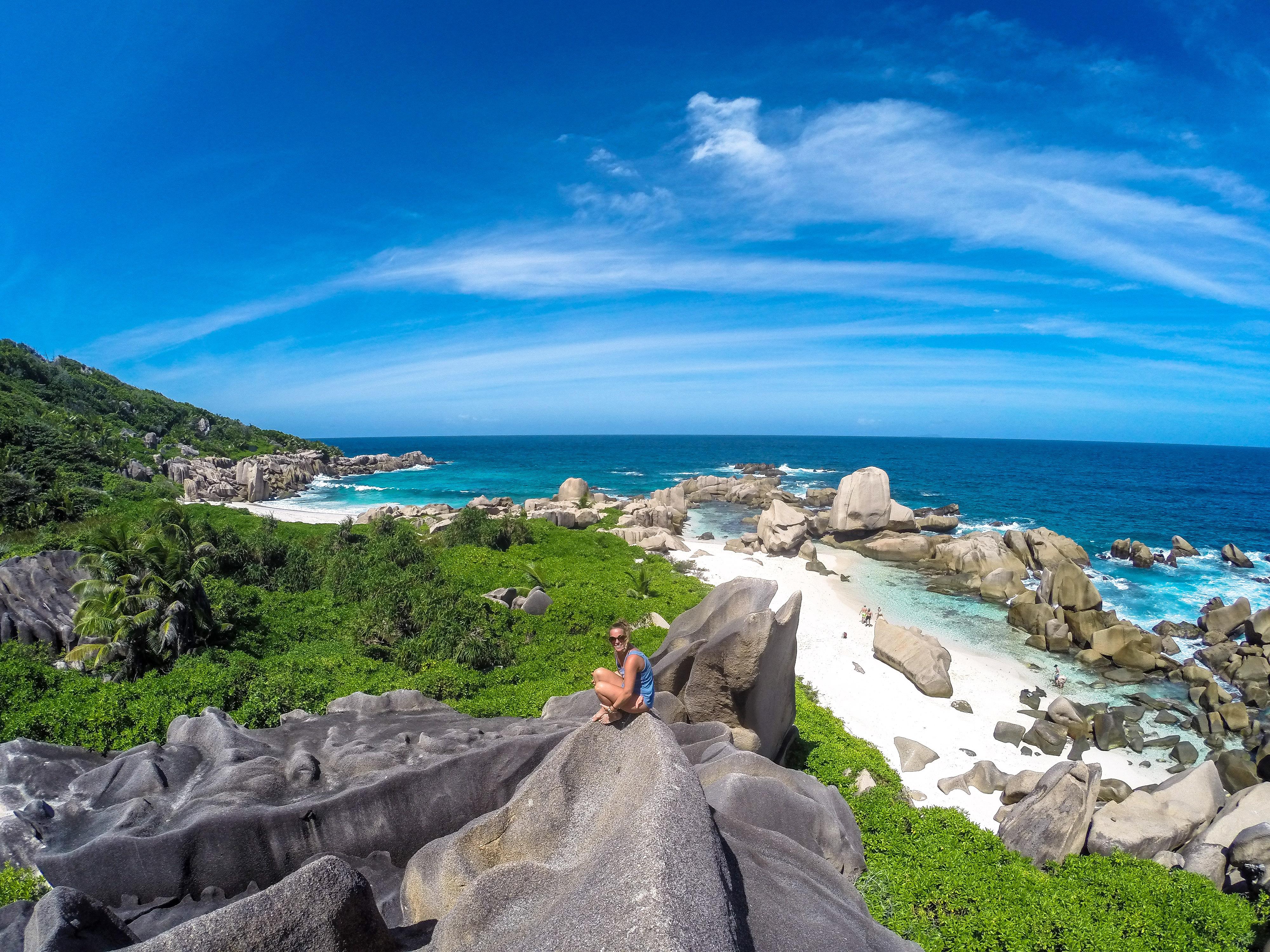 Wandern Seychellen La Digue