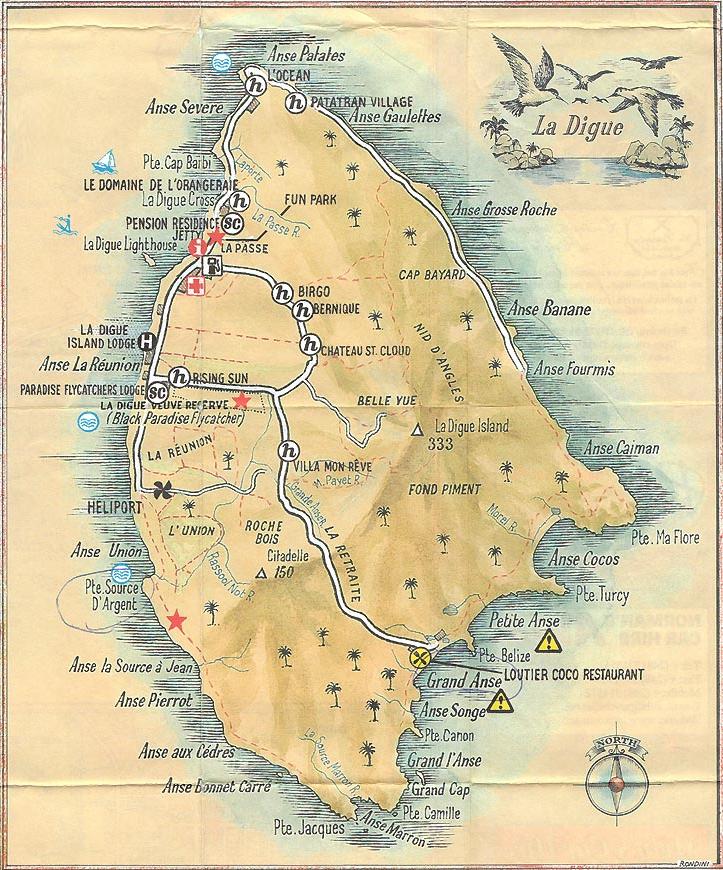 La digue karte Seychellen