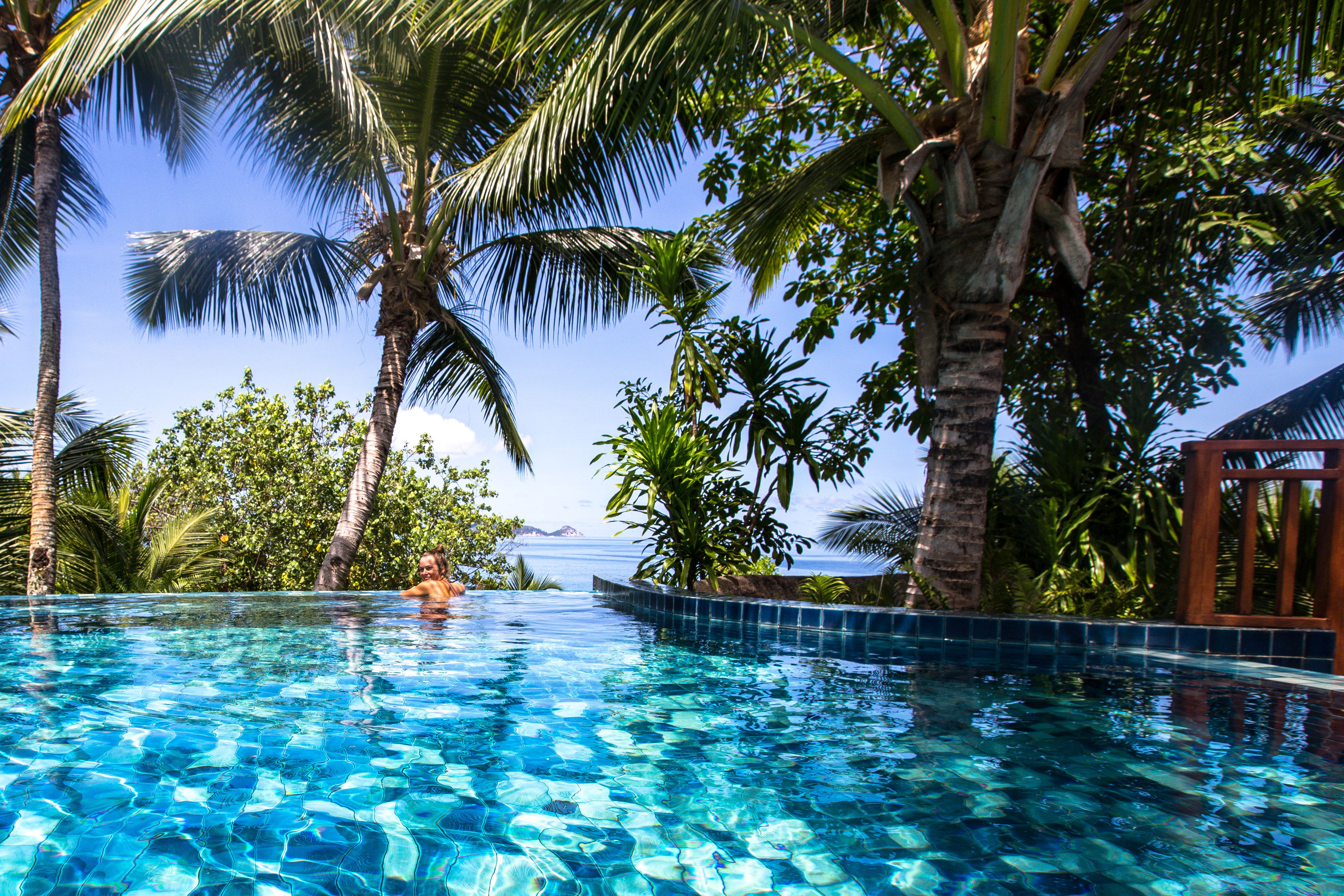 Presidential Vila, Hilton Seychelles Labriz Resort & Spa, Silhouette, Seychellen