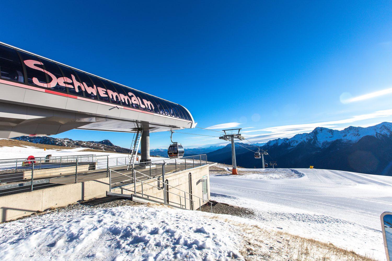 Skigebiet Schwemmalm Ultental Südtirol, Meraner Land