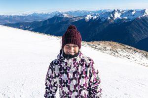 Snowboarden im Skigebiet Schwemmalm Ultental Südtirol