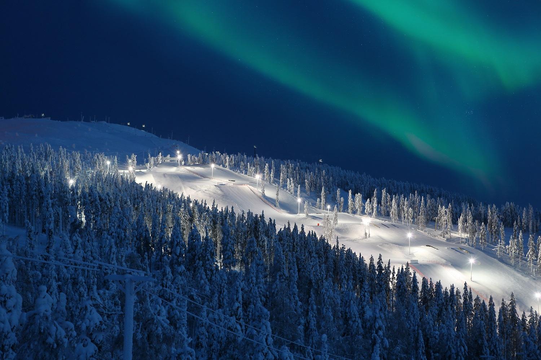 Levi Lappland, Nordlichter, Finnland, Lapland Express Snowcat