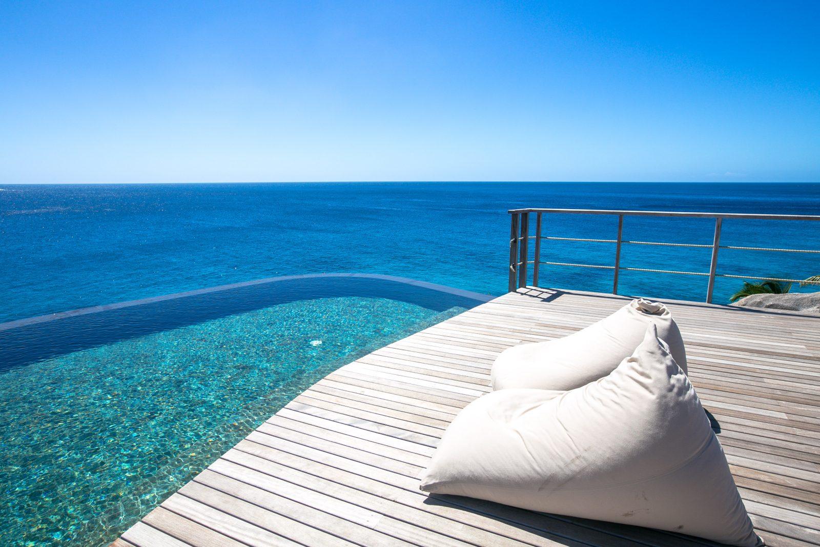 Six Senses Zil Pasyon, Felicite Island, Seychellen, Spa, Infinity Pool