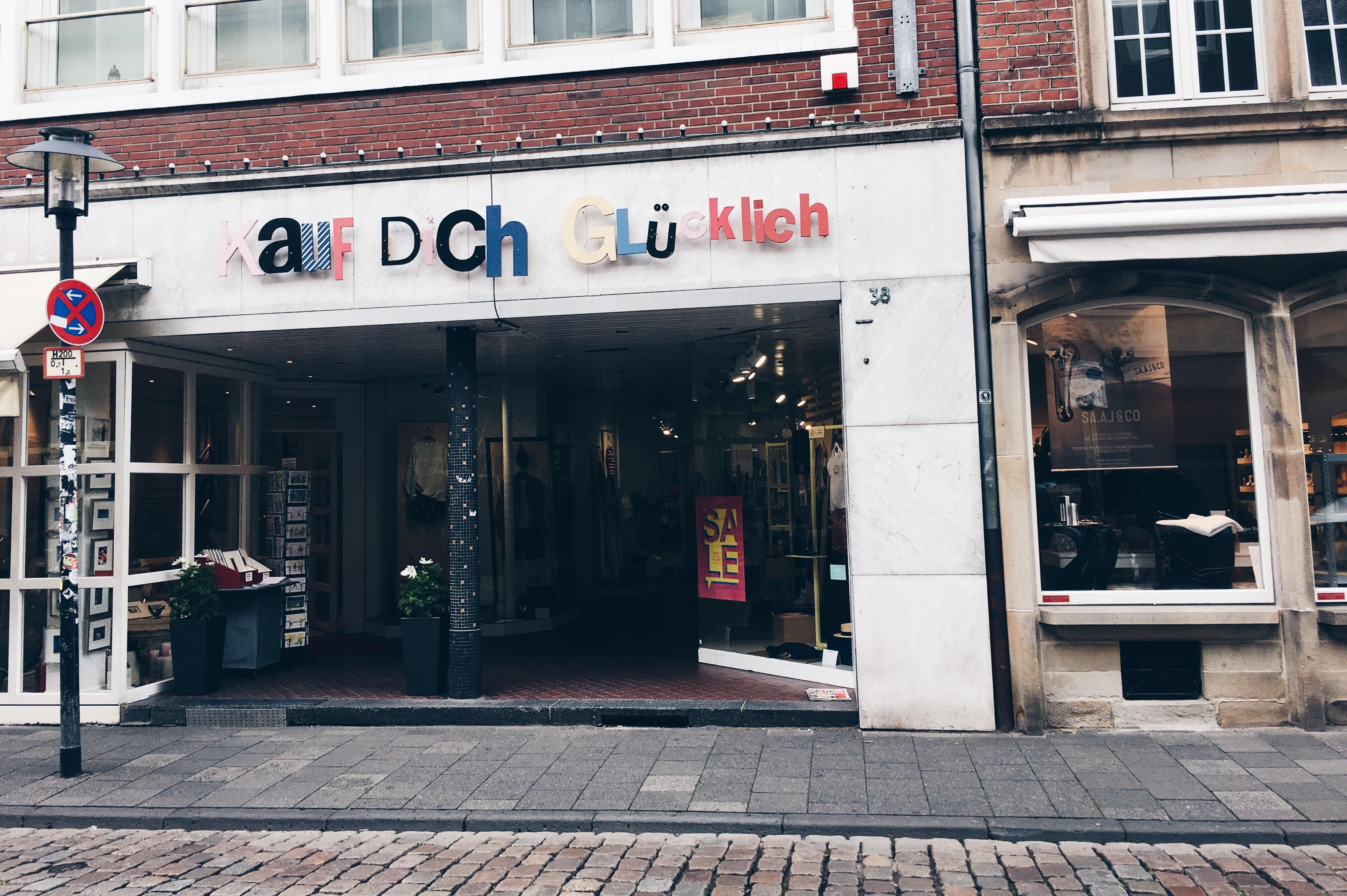 Ein Wochenende in Münster, Einkaufen