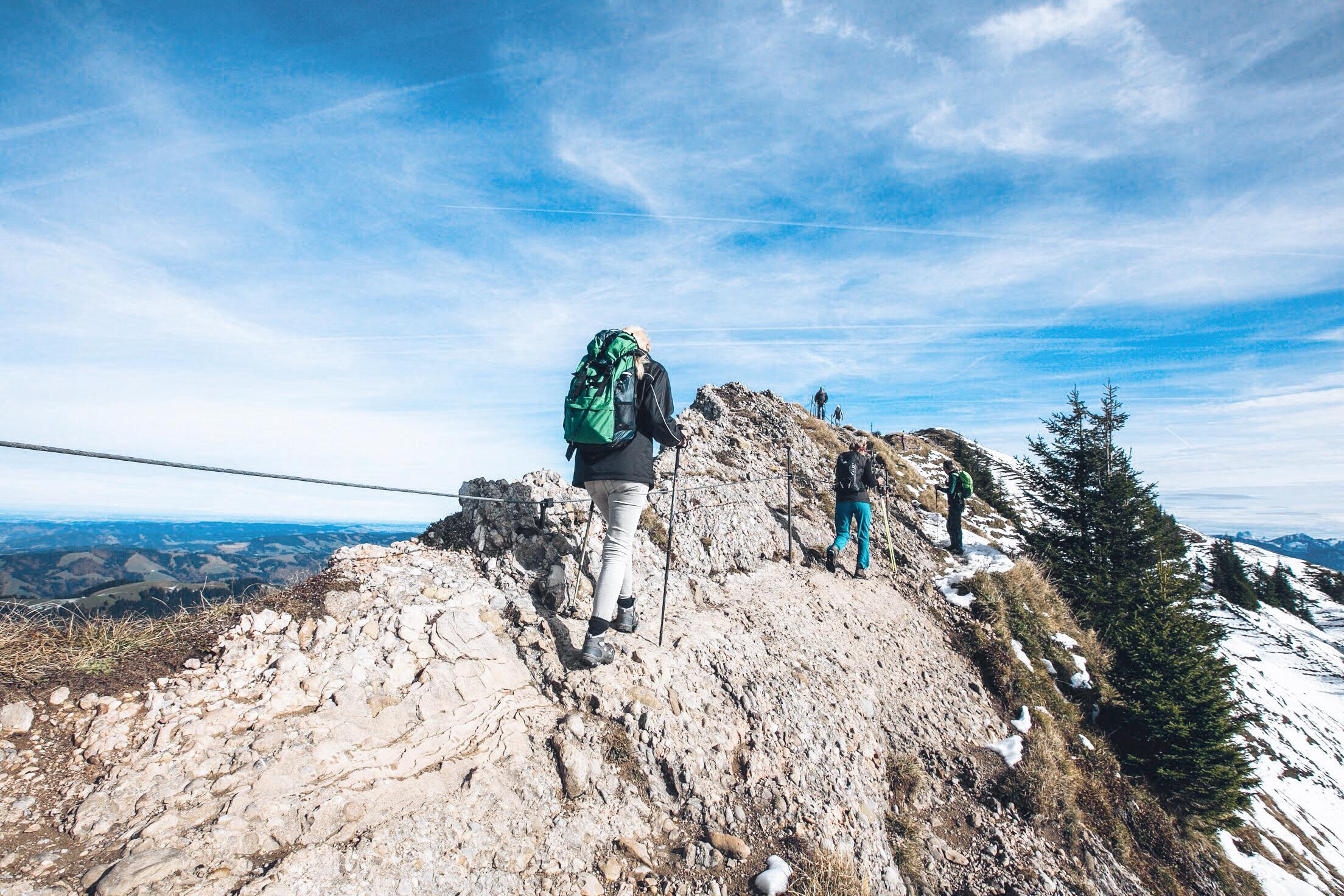 Hochgrat Wanderung Gipfelkreuz