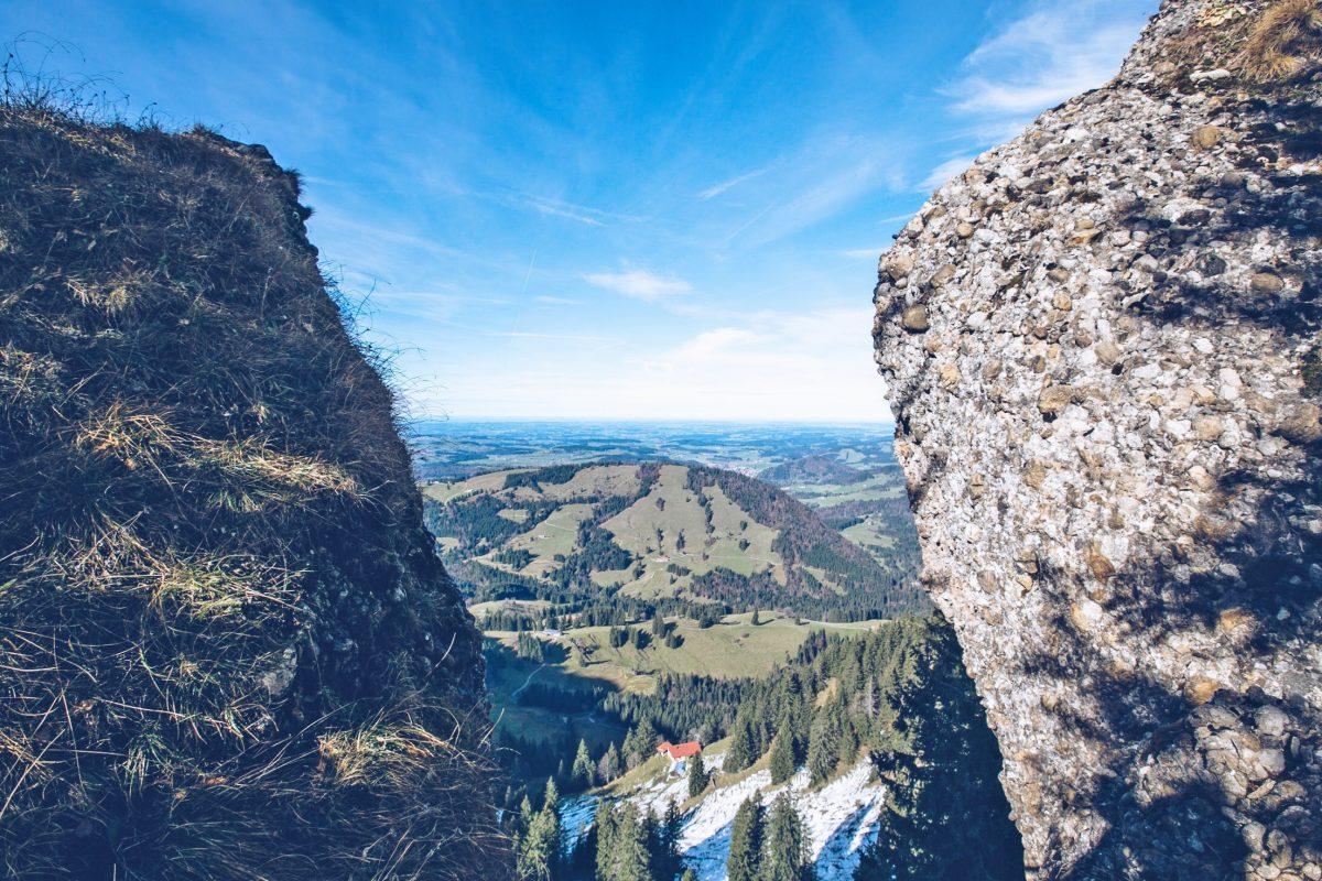 Nagelflug wanderung am hochgrat, Oberstaufen Steigis, Bayern
