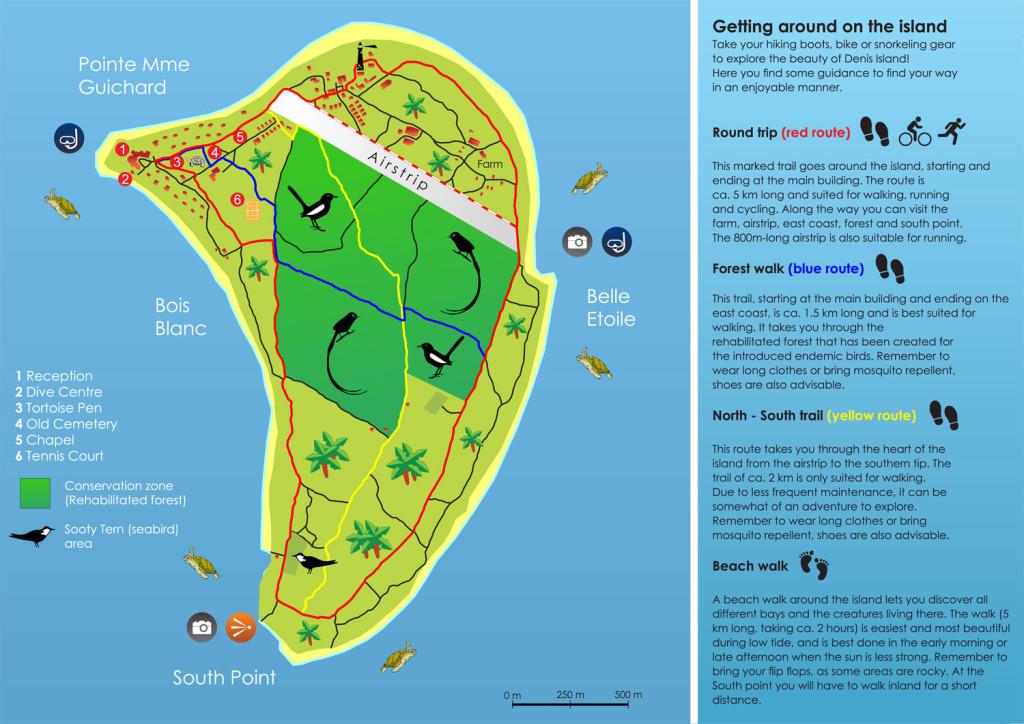 Denis Island Seychellen Inselkarte