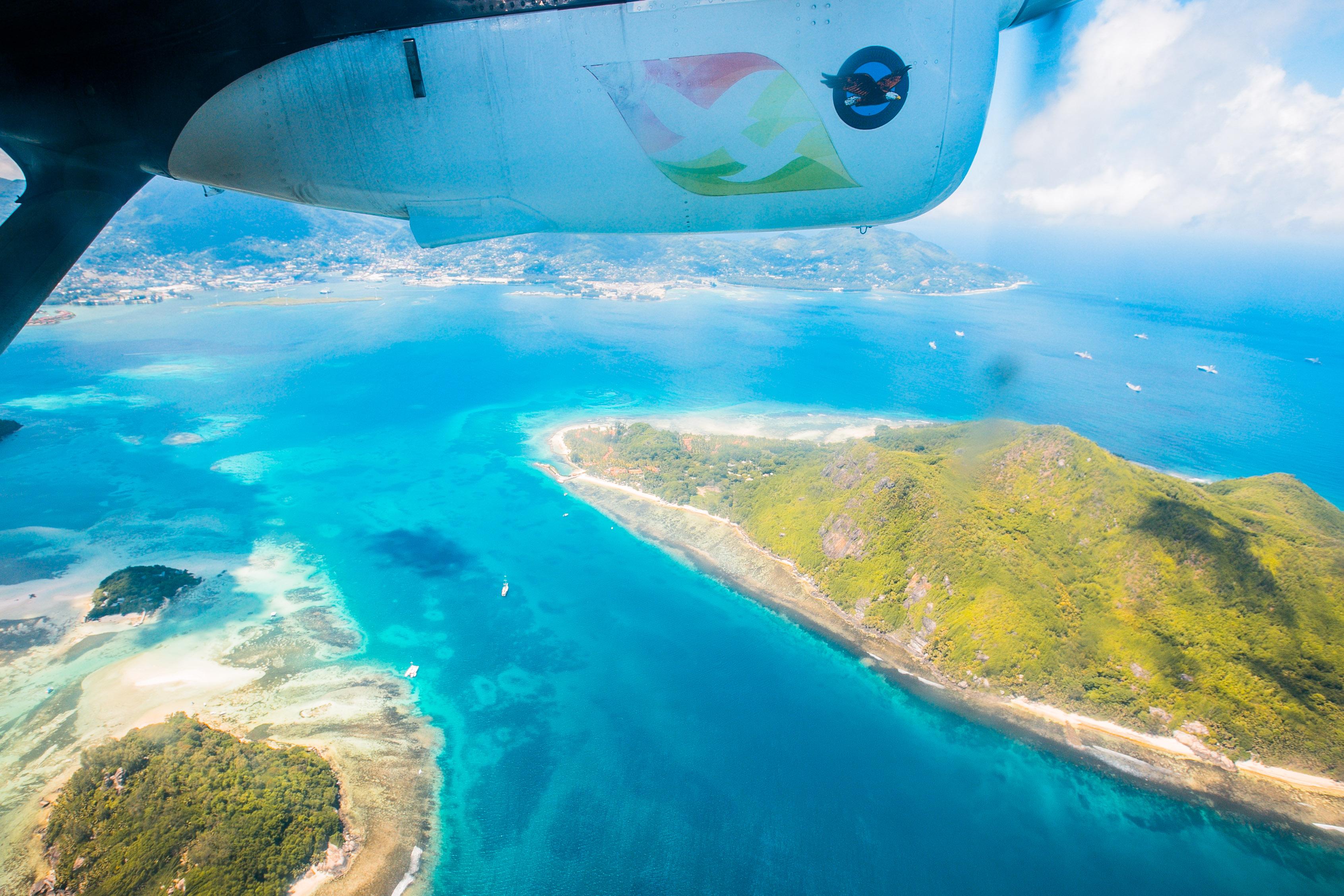 Flug mit Air Seychelles, Sainte Anne Marine Park
