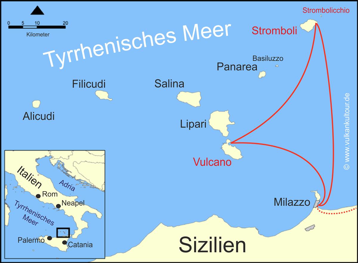 Vulkaninsel Stromboli, Italien