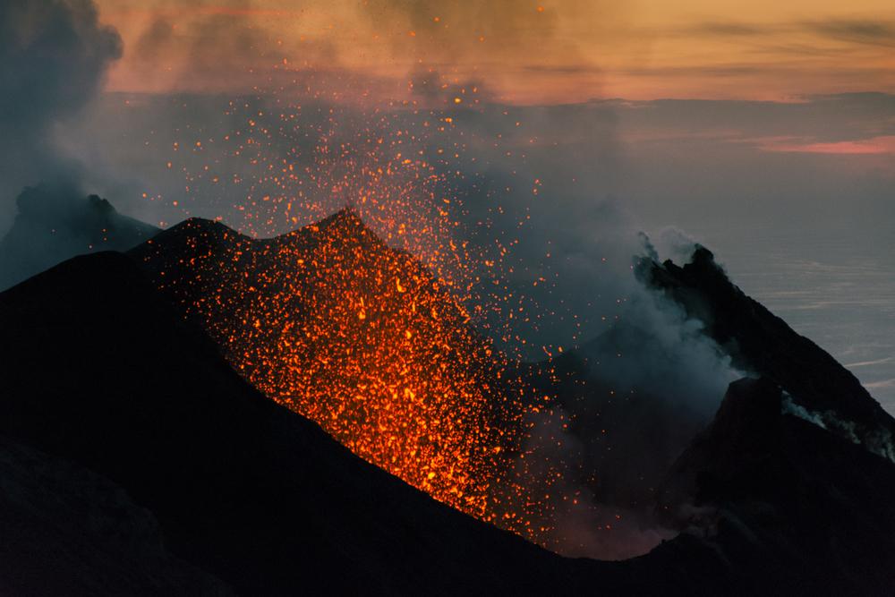 stromboli vulkaninsel, ausbuch