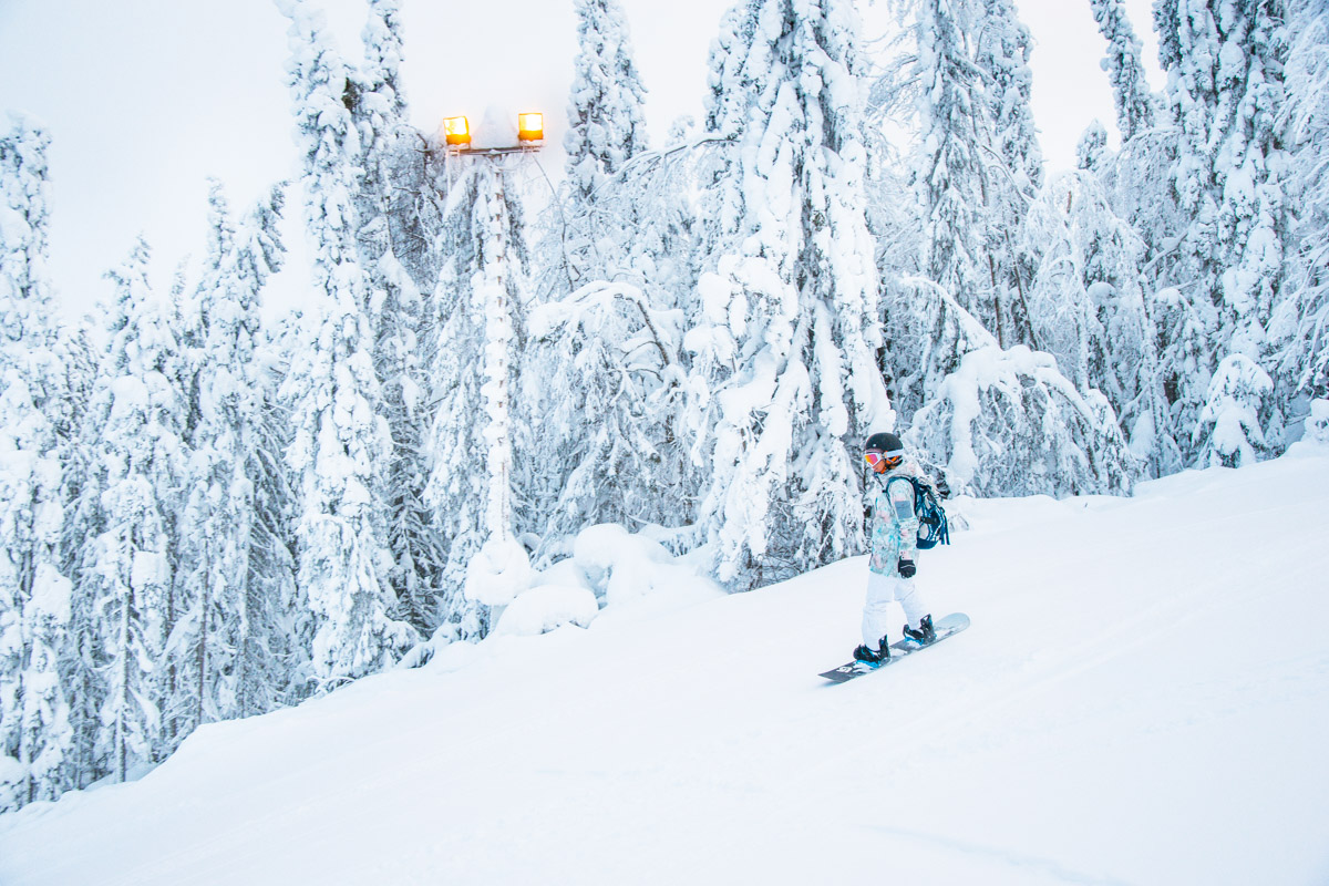 Finnland im Winter, Tipps für Vuokatti, Skifahren in Finnland, Vuokatti Ski Resort