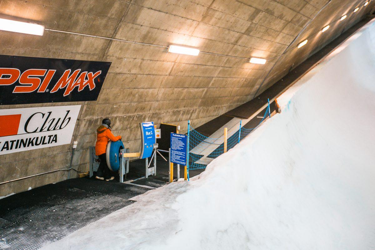 Finnland im Winter, Vuokatti Tipps, Snowtubing im Snowboard-Tunnel